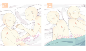 (CLOSED) YCH - sleeping couple -set price- by ChappyVII