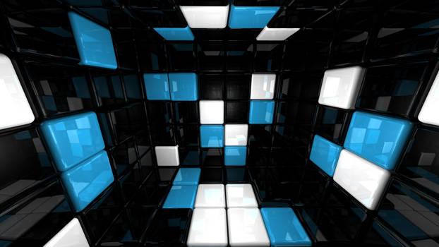cube room 3D HD 1920 x 1080