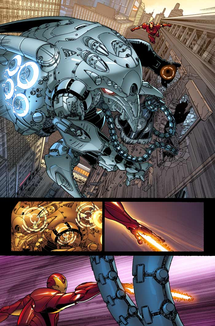 Iron-Man vs Siege Engine by jamescordeiro21