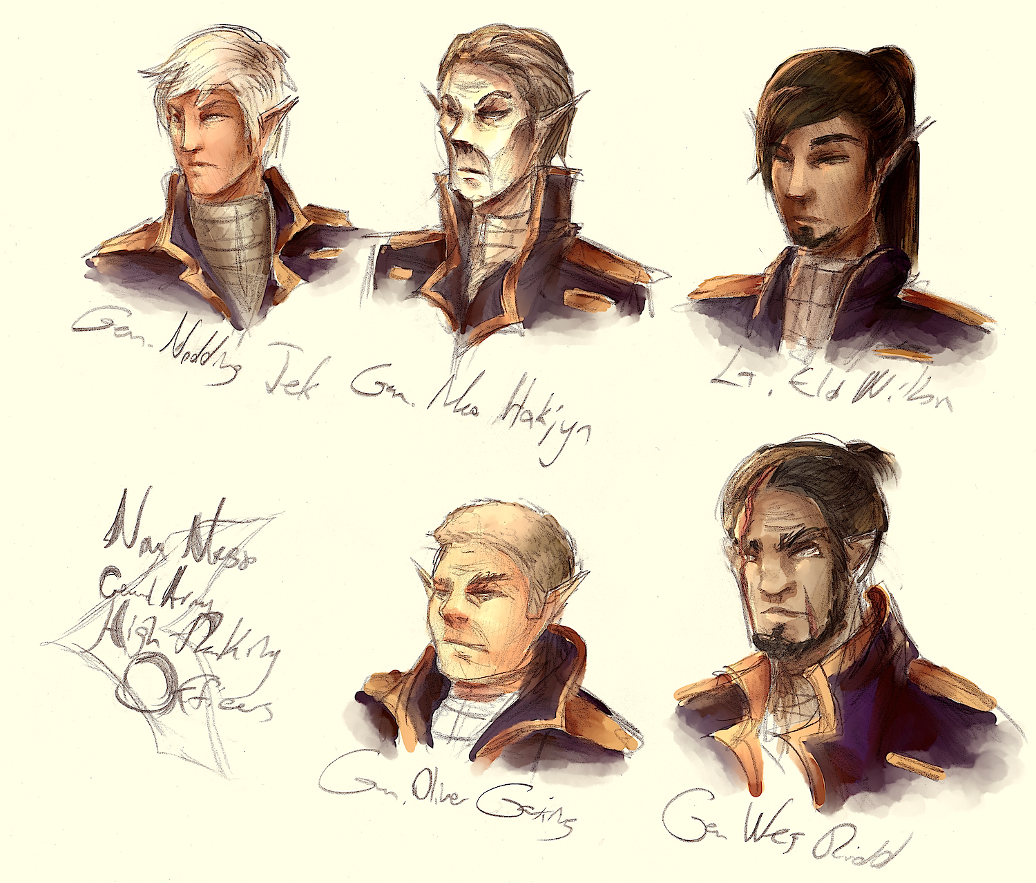 Four Generals and a Lieutenant by applePAI