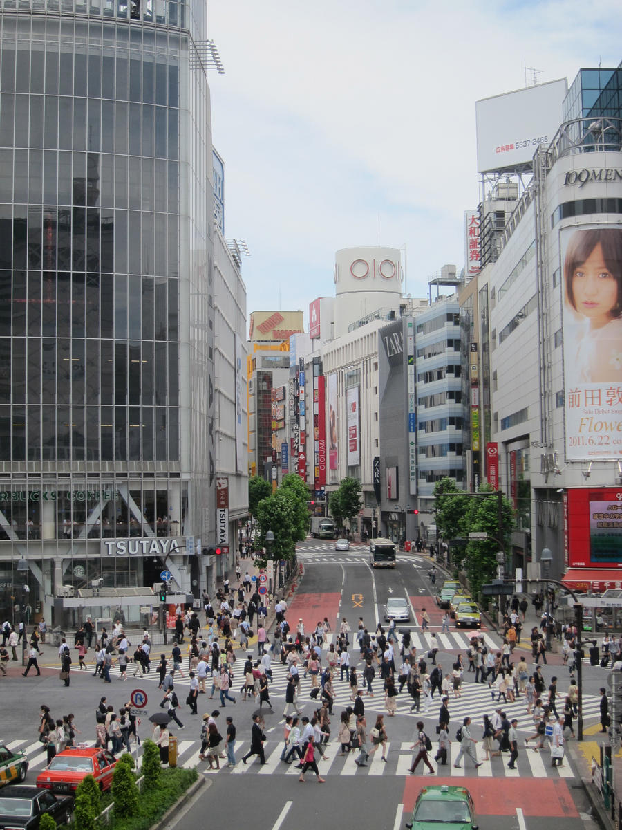 Famous Intersection in Tokyo by AntiRetrovirus