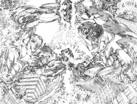 Antimonitor vs Galactus JL