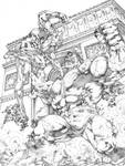 Commission Hulk vs Wolverine JL