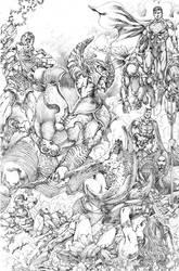 DC Justice League vs Lobo da Estepe JL 2017 by JoseLuisarts