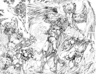 X-Men vs Magneto JL 2019 by JoseLuisarts