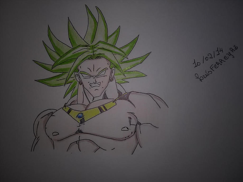 Broly the legendary super saiyan by Alcmenes