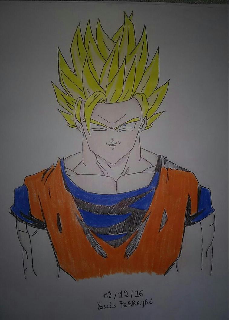 Goku Super Saiyan 2 by Alcmenes