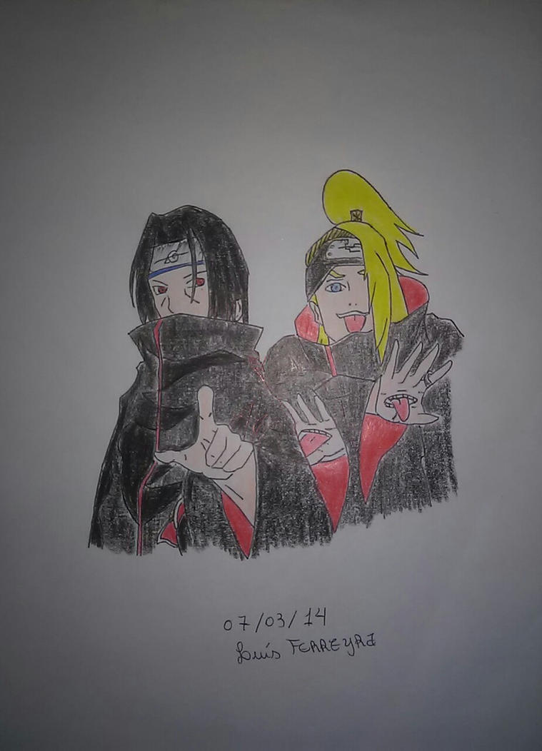 Itachi and Deidara by Alcmenes
