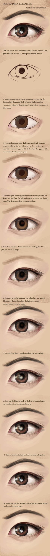 How To Draw Korean Eye by TanyaGreece