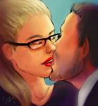 Arrow Olicity Kiss