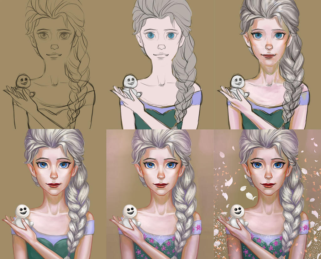 Elsa frozen-fever Progress(video) by TanyaGreece