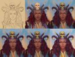 Demoness progress (video) by TanyaGreece