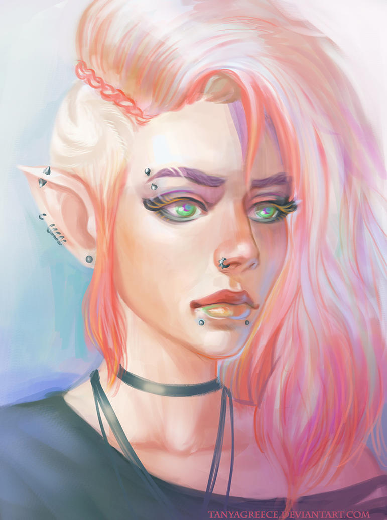 Punk girl by TanyaGreece