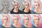 Punk girl progress