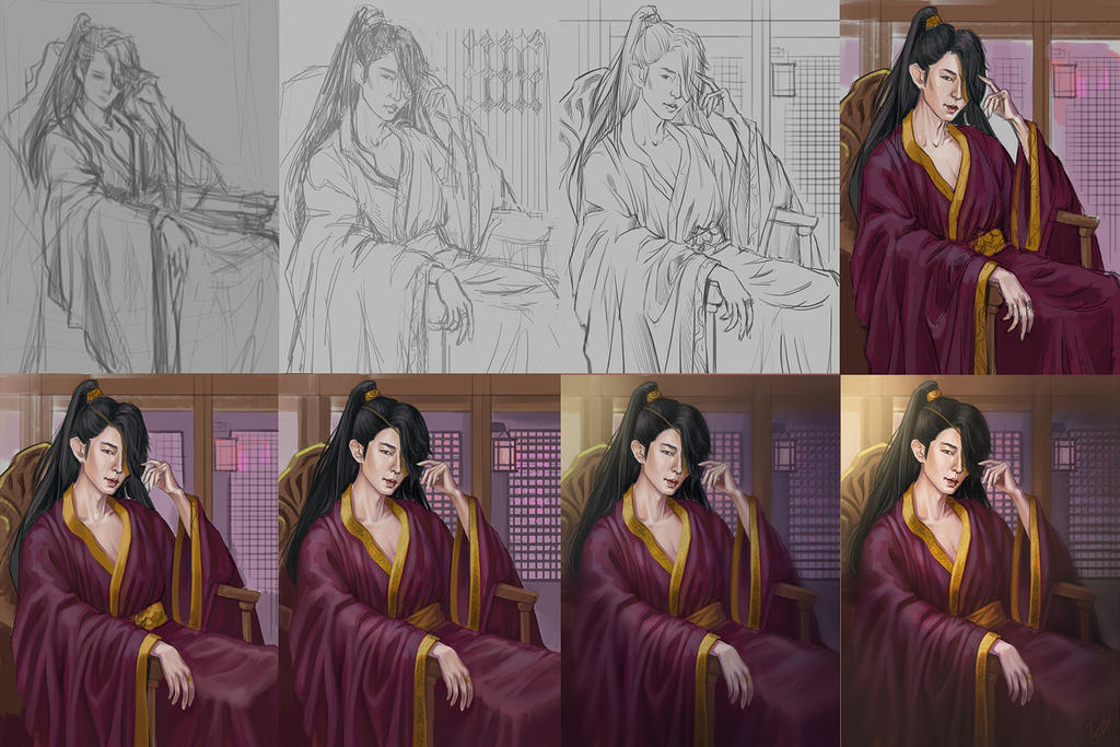 Wang So - Scarlet Heart Ryeo progress by TanyaGreece