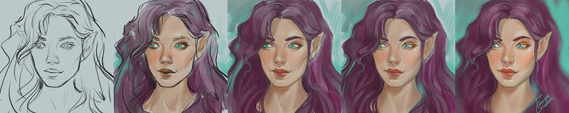 Elf Wip by TanyaGreece