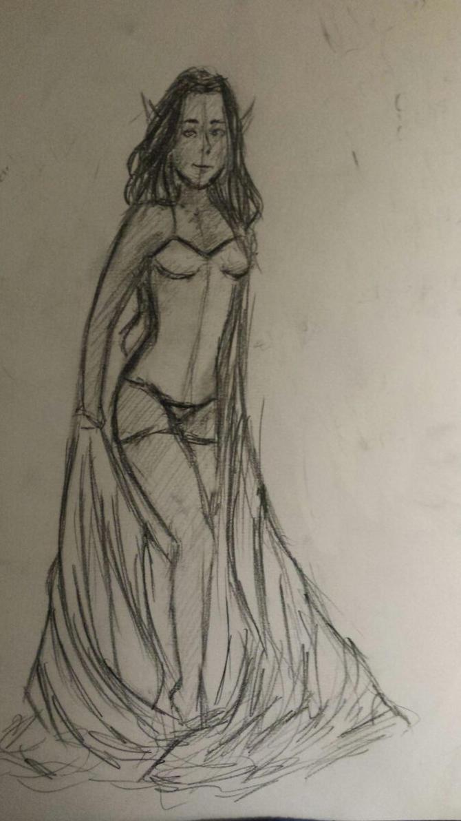 Aelin Sketch by shelbynight