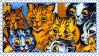 Cats Louis Wayne 8 Stamp