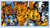 Cats Louis Wayne 8 Stamp by ChuChucolate