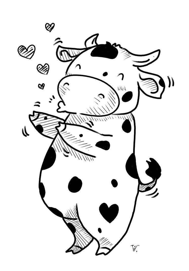 Vnezapno iz-za kustov cow with big hot sexy by ChuChucolate