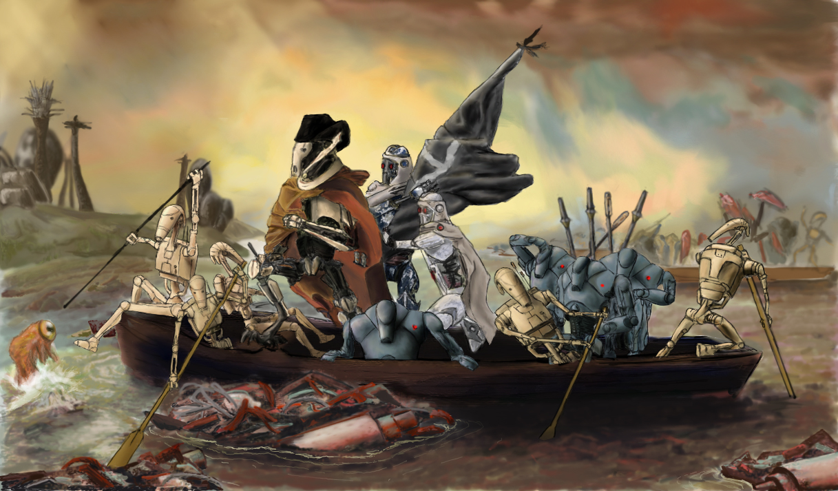 Grievous Crosses the Delaware by lk666