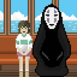 Chihiro and No Face by edganmolla