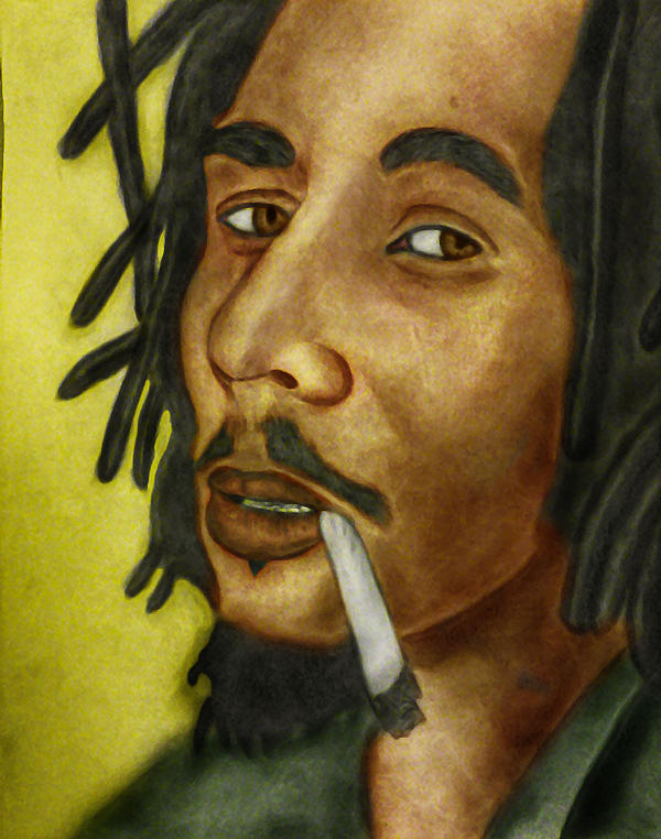 Bob Marley - Colored by AfroAfrican on DeviantArt