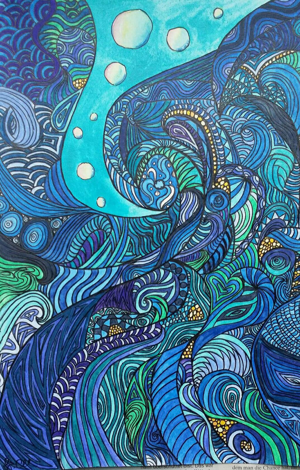 Powerful sea by CaraChloeCathleen