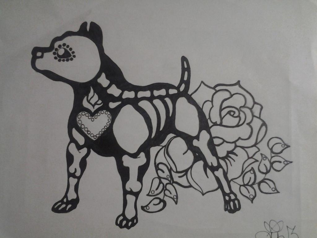 Skeleton PitBull by lizzyj2217