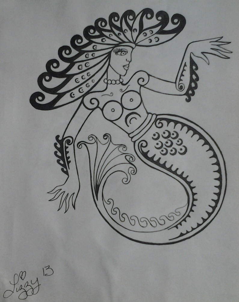 Mermaid Drawing (WIP) by lizzyj2217