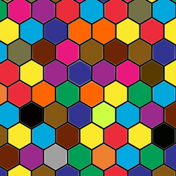 Colorful Hexagons PNG Download