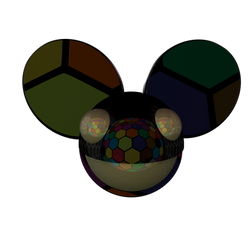 Deadmau5 Hexagon Party 3D Logo Maya Render PNG