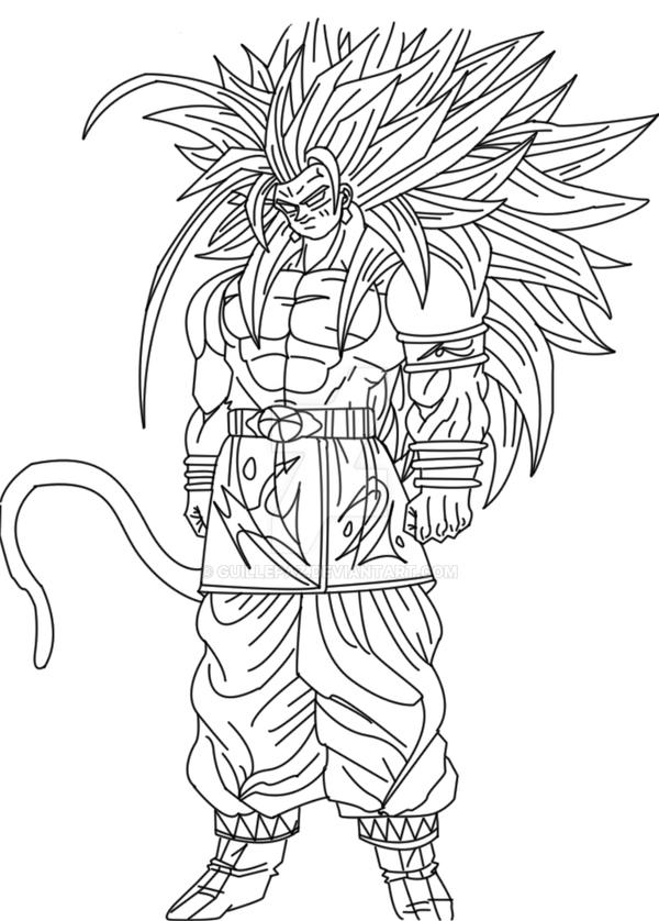 Goku Ssj5 Lineart By Guillepaz On Deviantart