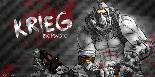 Krieg The Psycho Borderlands 2 Wallpaper By: Krieg The Psycho By KingJino On DeviantArt