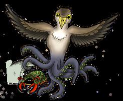 Hawktopus versus Lobsturtle by Petzrick