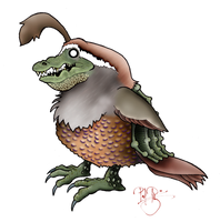 Quailligator by Petzrick