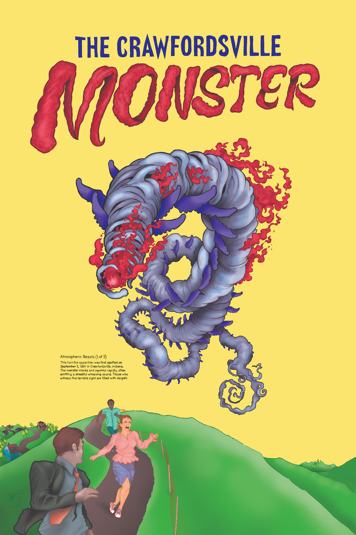 Atmospheric Beasts 1 of 3: Crawfordsville Monster by Petzrick