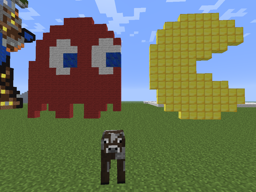 Pac Man Moo Pixel Art by MHarro4815 on DeviantArt  Pac Man Moo Pix...