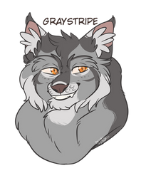 Graystripe Headshot 2 by XxDawnFluffyCatXx