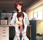 Mari Illustrious y Yui Ikari | NG Evangelion 97 by GinaAckerman