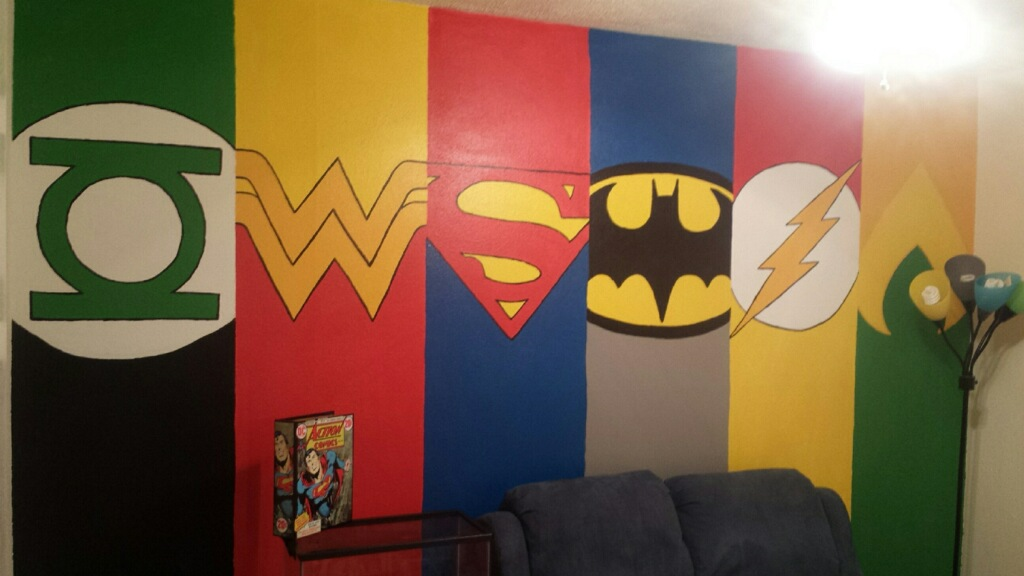 Justice league wall painting by cowswithguns123