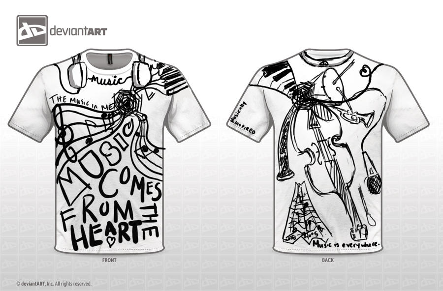 The Musically Inspired t-shirt design by sabitan