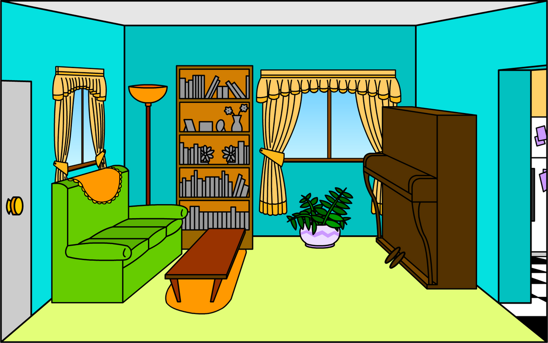 Living room by shmuggly on deviantart for Cartoon picture of a living room