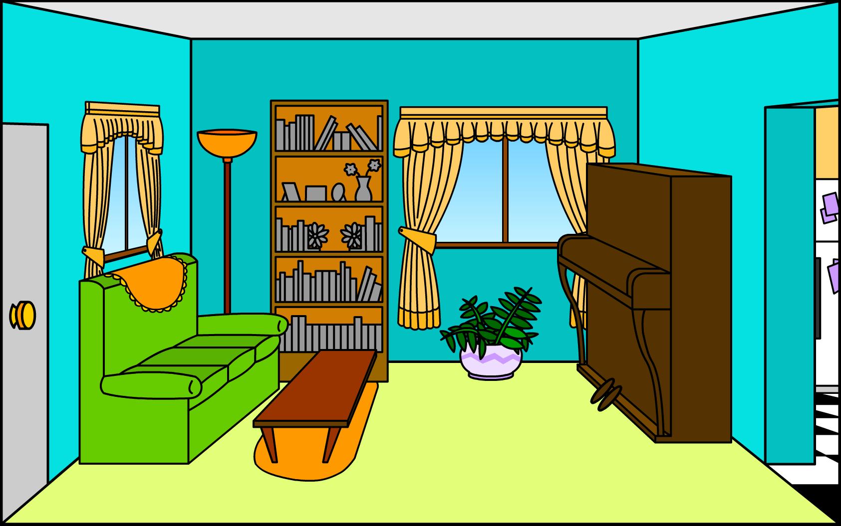 Cartoon TV Room