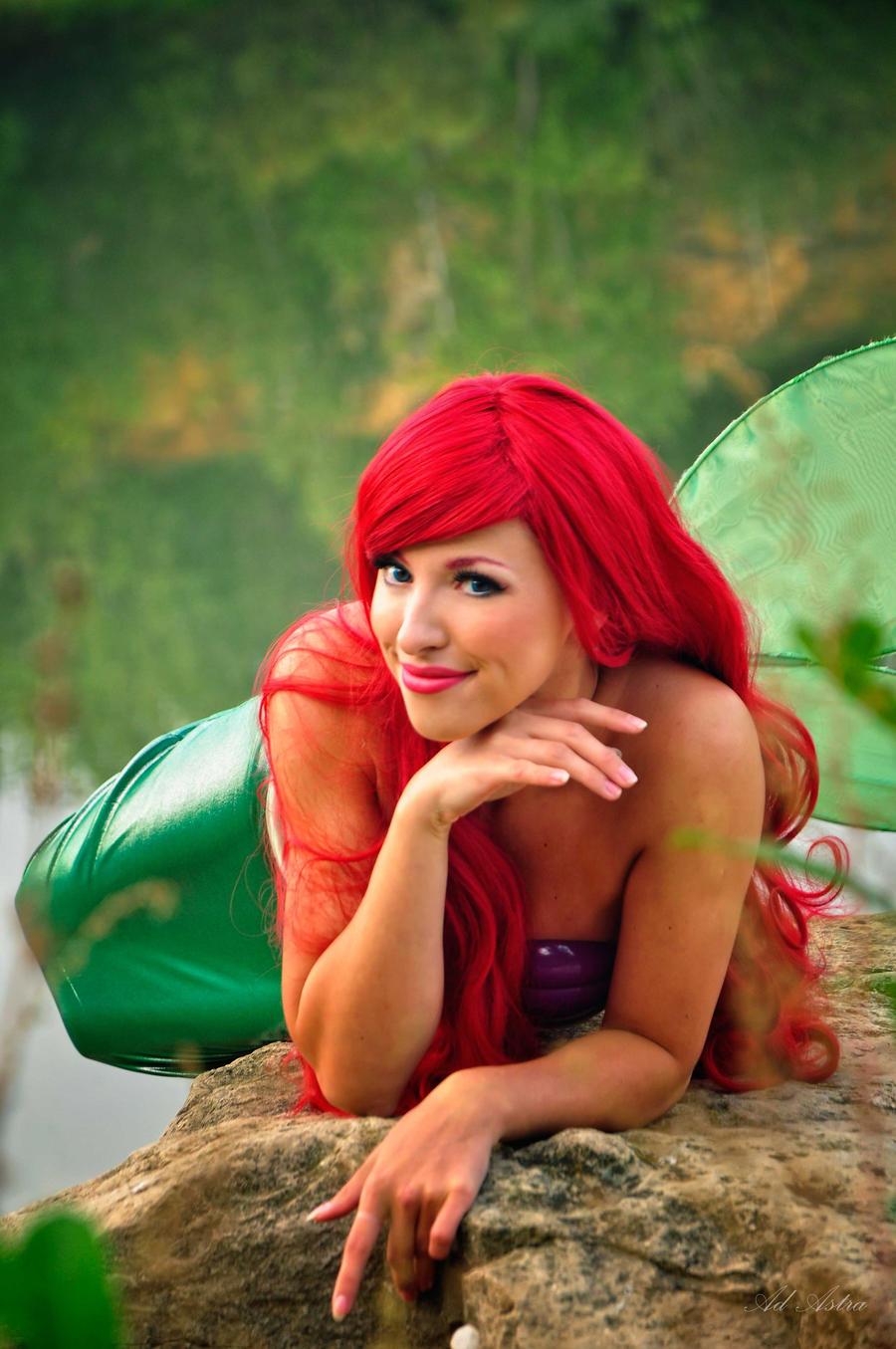 Ariel on a stone cosplay by Yana-Mio