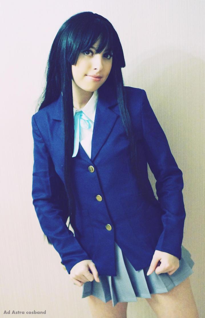 Mio Akiyama in school uniform by Yana-Mio