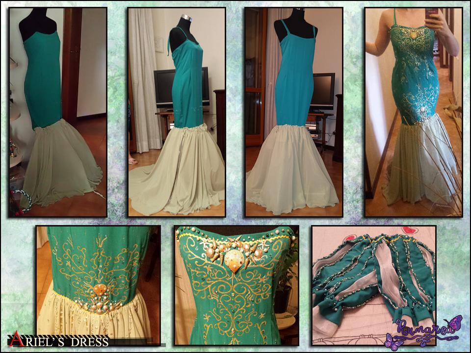 Ariel's Dress wip 1 by Runarea