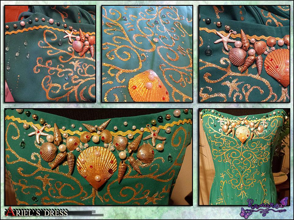 Ariel's Dress wip 2 by Runarea