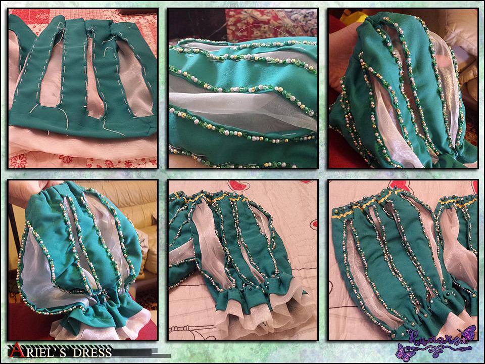 Ariel's Dress wip 5 by Runarea