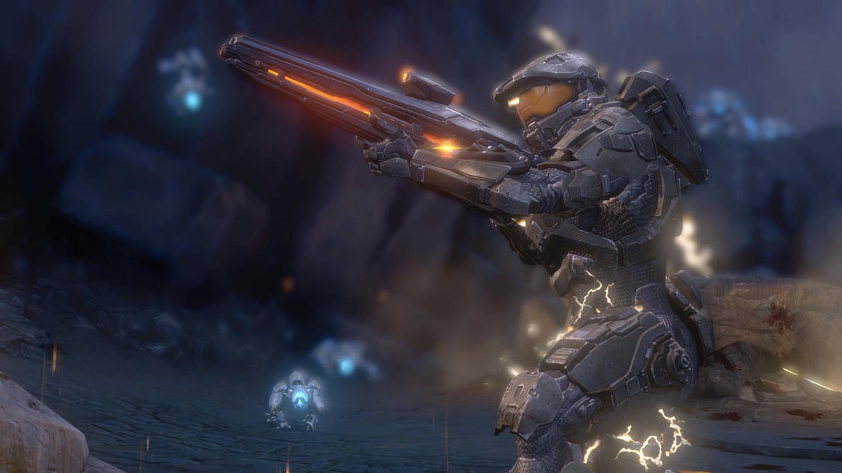 Halo 4 | Master Chief Whit Ligth Rifle by Goyo-Noble-141